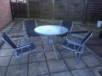 Garden furniture (4 x chairs 1x table 1 x umbrella)