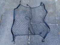 "CARGO NET for CAR, VAN or ESTATE, with SEVERAL HOOKS, BLACK, BRAND NEW, 26"" x 26"" UNSTRETCHED"