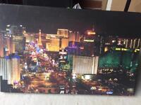 Las Vegas strip canvas