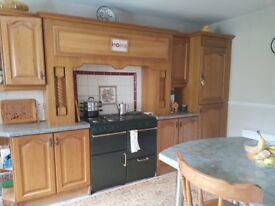 Solid Wood Kitchen with Freezer, Cooking Range and Breakfast Bar included