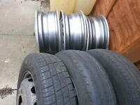 transit wheels 3 with tyres 3 without £50 the lot
