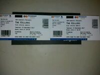 The killers standing tickets Nottingham Arena