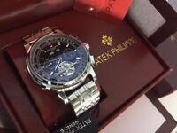 New Swiss Patek Philippe Tourbillon Automatic Watch, See Through back