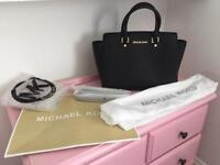 Genuine Michael Kors Black Selma bag