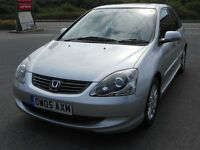 HONDA CIVIC 1.6 VTEC EXECUTIVE, 2005, 73'000 MILES, HONDA FSH - 11 STAMPS, LEATHER, A/C, CD, SUPERB
