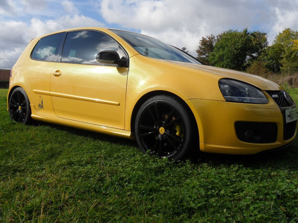 2007 vw mk5 exclusive edition no 8 yellow golf speed with lamborghini doors in bedford. Black Bedroom Furniture Sets. Home Design Ideas
