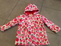 Girls Hatley Raincoat Age 3 red/pink strawberry 🍓 design