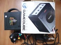 Boxed Gamecube with Metroid Prime Faceplate
