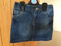 BlueZoo girls denim skirt, age 7yrs