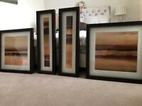 Set of 4 beautiful framed pictures