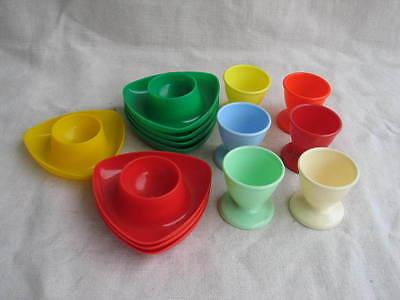 Sammlung Kunststoff Plastik Eierbecher farbig 70er Jahre Kayser