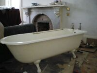 Cast Iron roll-top bath