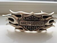 Harley-Davidson Flame, Bar & Shield Belt Buckle