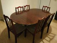 Table with chairs for sale