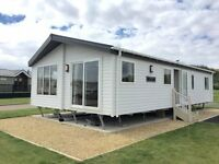 NEW 2016 STATIC CARAVAN LODGE FOR SALE WITH DECKING AT CRIMDON DENE nt HAGGERSTON , SANDY BAY
