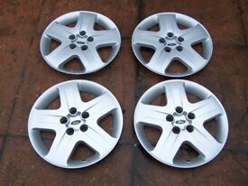 """4 Genuine Ford Focus / C-Max 16"""" Wheel Trims 5 Hole that look like alloys"""