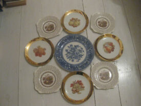 9 x decorative plates