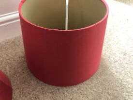 Laura Ashley - Pair of Drum Table Lamp Shade Cranberry