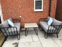 Next outdoor sofa set with table