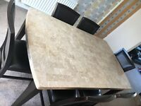 Marble table and 6 chairs