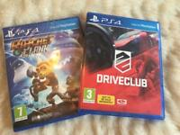 PS4 games (both together for £8)