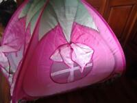 pink pop up play tent.and outdoor jigsaw