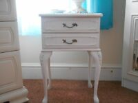 two white bedside tables lovely shabby chic