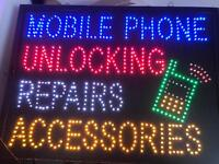 Led mobile flashing sign £20