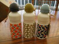 3 brand new sports gym cycling walking drinks bottle olive /& orange ORLA KIELY