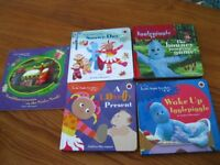 In the night garden baby board books and Eric Carle Caterpillar books
