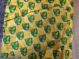 Official ncfc curtains and single duvet with pillow case