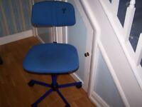 Club 8 Swivel Chair on wheels.