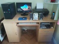 Desktop PC set up