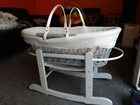 A beautiful almost new moses basket.
