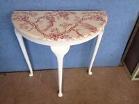 Hall Table in white with bird design decoupage £35