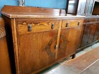 Vintage 2 door sideboard with drawers