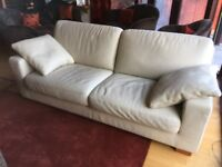 2 x 3 seater Italian leather sofas.