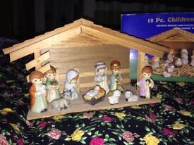Porcelain nativity set Christmas decoration