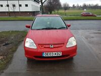 HONDA CIVIC 1.6i VTEC EXECUTIVE 5dr 03 REG - FULL SERVICE HISTORY