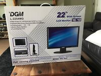 Boxed NEW - DGM Digimate 22 Inch Widescreen LCD Monitor Model L-2254WD