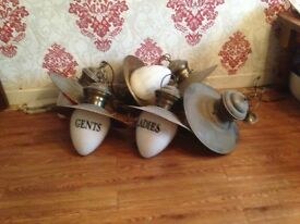 Vintage brass lights