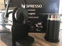 Nespresso Magimix Inissia Coffee Machine with Aeroccino - Black