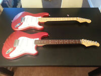 Farida Stratocaster copy in Candy Apple Red
