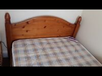 Pine double bed - great condition
