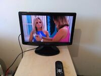"""Excellent 19"""" SHARP AQUOS LCD TV hd ready, freeview"""