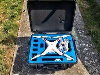 DJI Phantom 3 Standard + Strong Case with Wheels + Range Extender