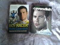 2 Hardback books , biographies, on MARK CAVENDISH.
