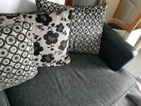 Dfs used 4 seater sofa and chair
