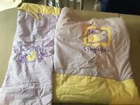 Cot bed duvet cover & bumper