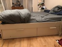 King Size bed frame with drawers for storage